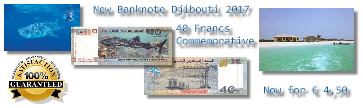 Brand New Commemorative banknote from Djibouti