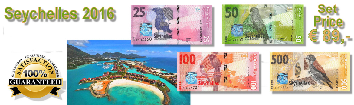 New Banknotes from Seychelles 2016